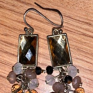 Gold and beads dangle earrings new